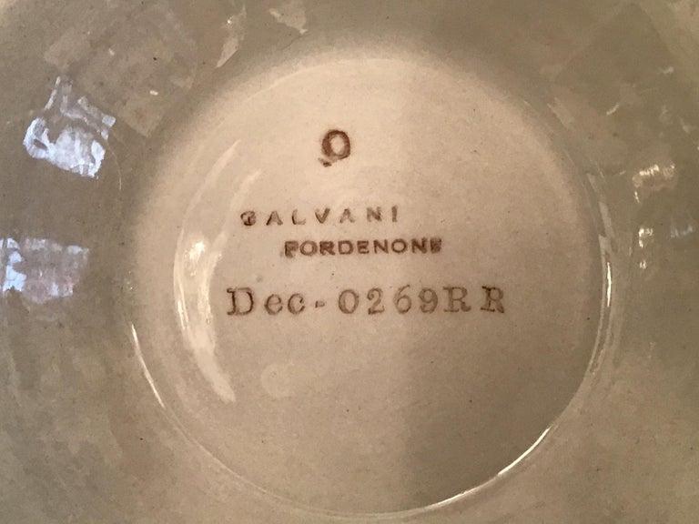 Galvani Pordenone Soup Tureen Centerpiece 1930 Ceramic, Italy For Sale 12
