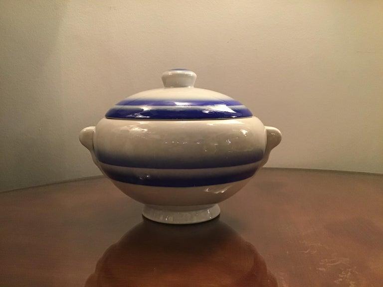 Galvani Pordenone soup tureen centerpiece 1930 ceramic, Italy.