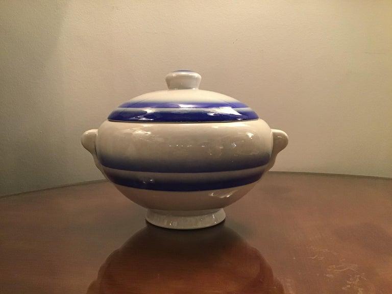 Other Galvani Pordenone Soup Tureen Centerpiece 1930 Ceramic, Italy For Sale