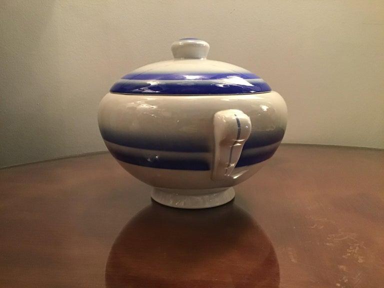 Italian Galvani Pordenone Soup Tureen Centerpiece 1930 Ceramic, Italy For Sale