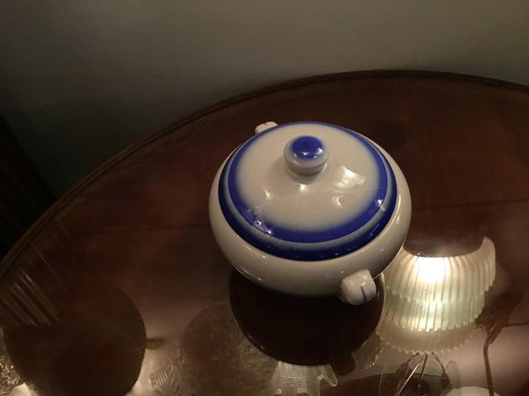 Galvani Pordenone Soup Tureen Centerpiece 1930 Ceramic, Italy For Sale 1