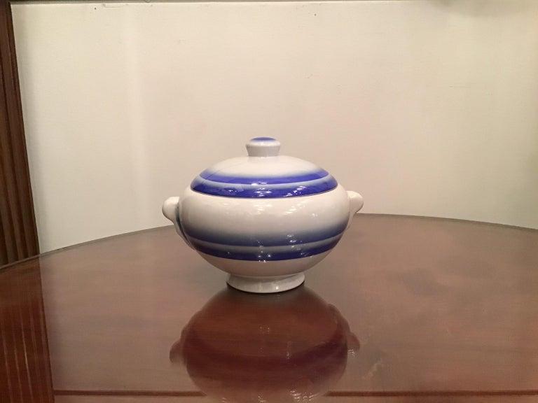 Galvani Pordenone Soup Tureen Centerpiece 1930 Ceramic, Italy For Sale 3