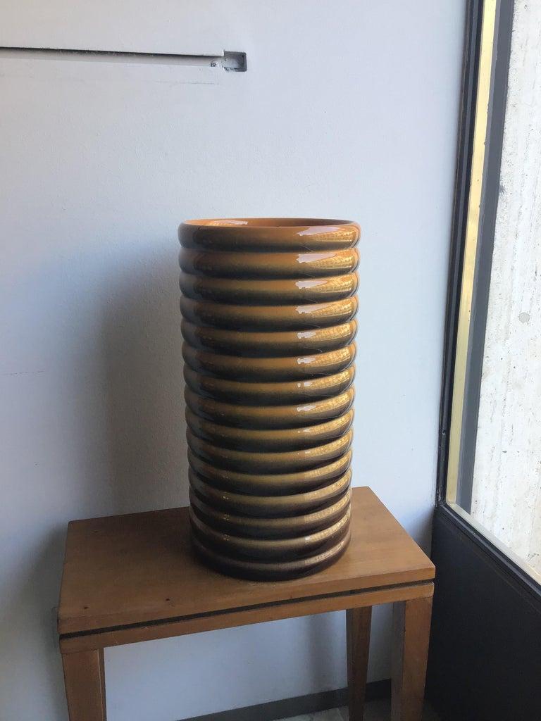 Italian Galvani Vase/Umbrella Stand Ceramic, 1930, Italy For Sale