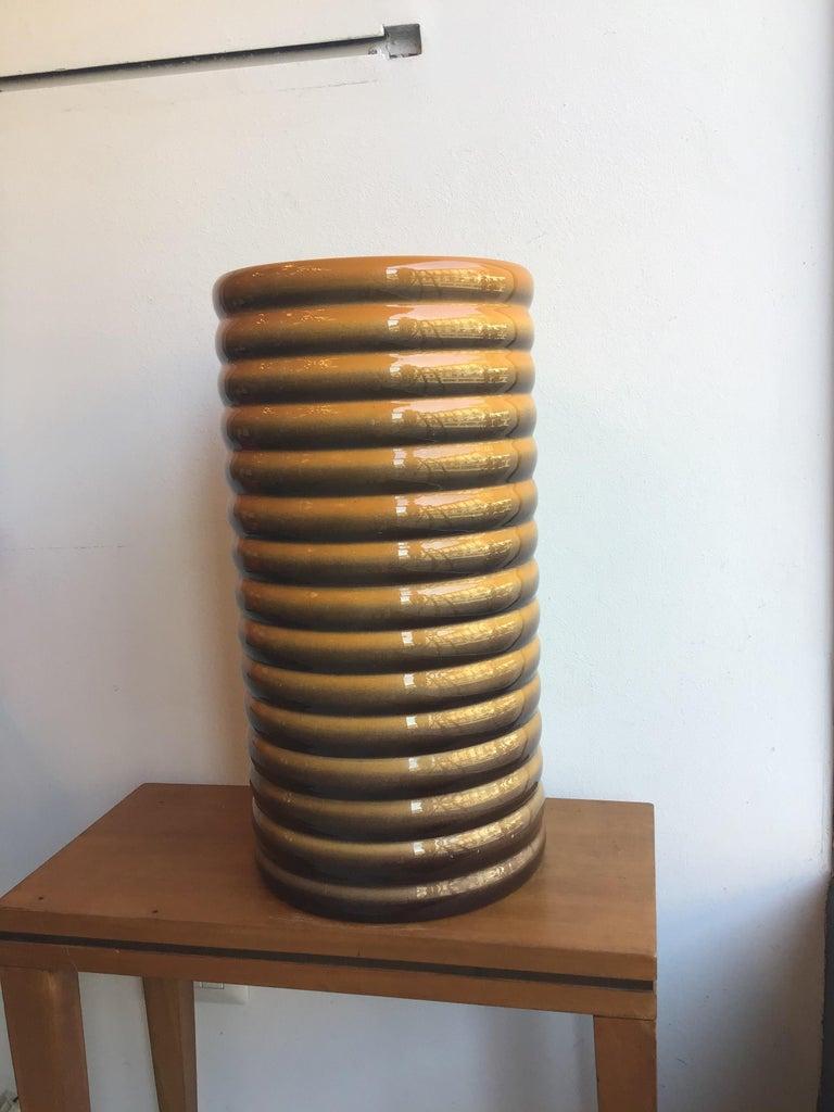 Galvani Vase/Umbrella Stand Ceramic, 1930, Italy In Excellent Condition For Sale In Milano, IT