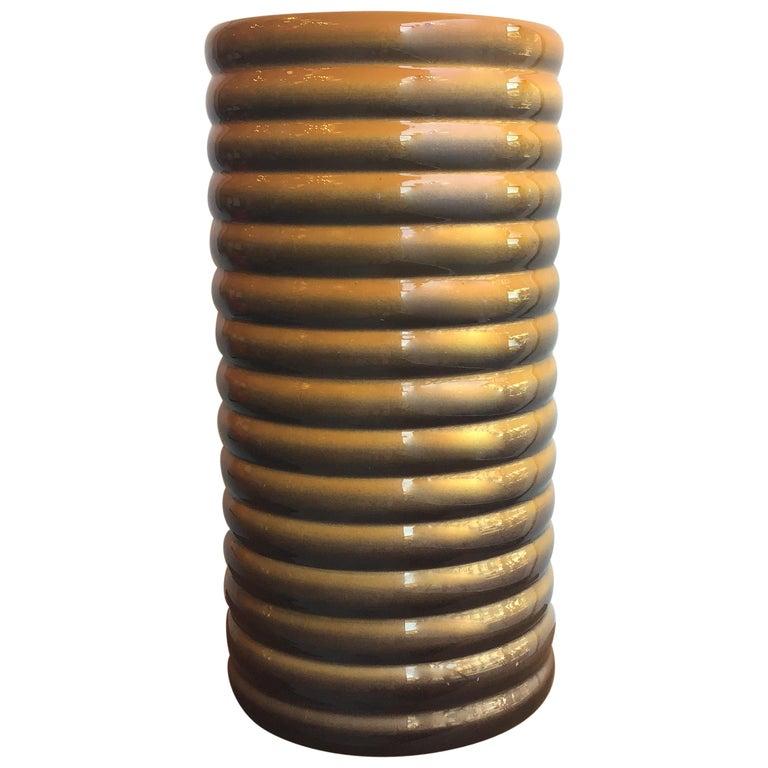Galvani Vase/Umbrella Stand Ceramic, 1930, Italy For Sale