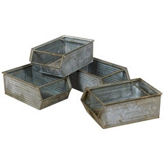 Galvanised Tin Boxes / Storage Containers, 20th Century