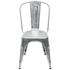 Galvanized A-Chair in Steel with High-Gloss Lacquer by Xavier Pauchard & Tolix