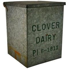 Galvanized Metal Milk Bottle Container/Garden Planter