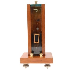 Galvanometer Made in circa 1850, Oak and Glass