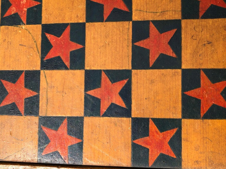 Game Board Chrome Yellow And Red Stars Signed And Dated