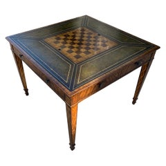 Game Table in Leather and Wood by Maitland Smith