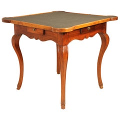 Game Table 18th Century in Blond Walnut Louis XV