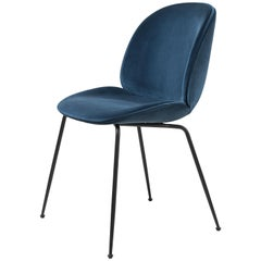 GamFratesi 'Beetle' Dining Chair in Blue with Conic Base