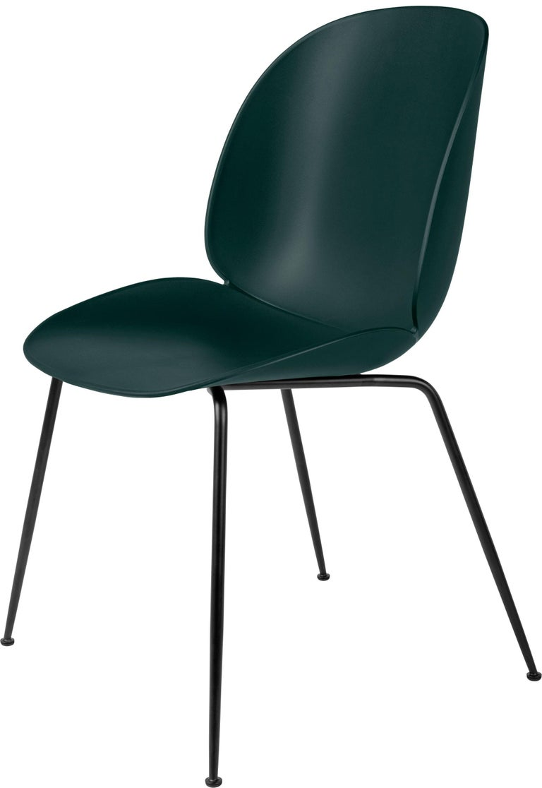 GamFratesi 'Beetle' Dining Chair with Black Conic Base For Sale 2