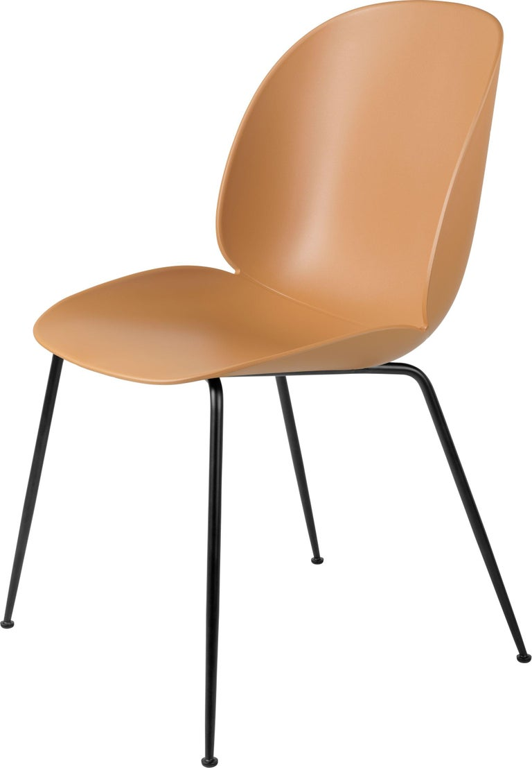 GamFratesi 'Beetle' Dining Chair with Black Conic Base For Sale 3