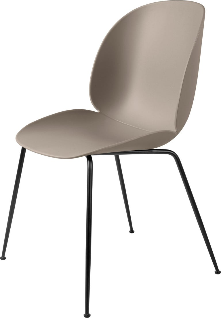 GamFratesi 'Beetle' Dining Chair with Black Conic Base For Sale 4