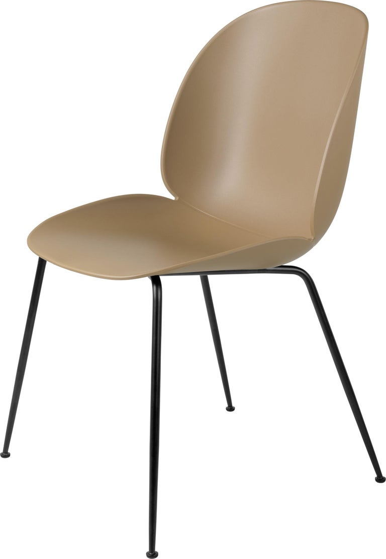 GamFratesi 'Beetle' Dining Chair with Black Conic Base For Sale 5
