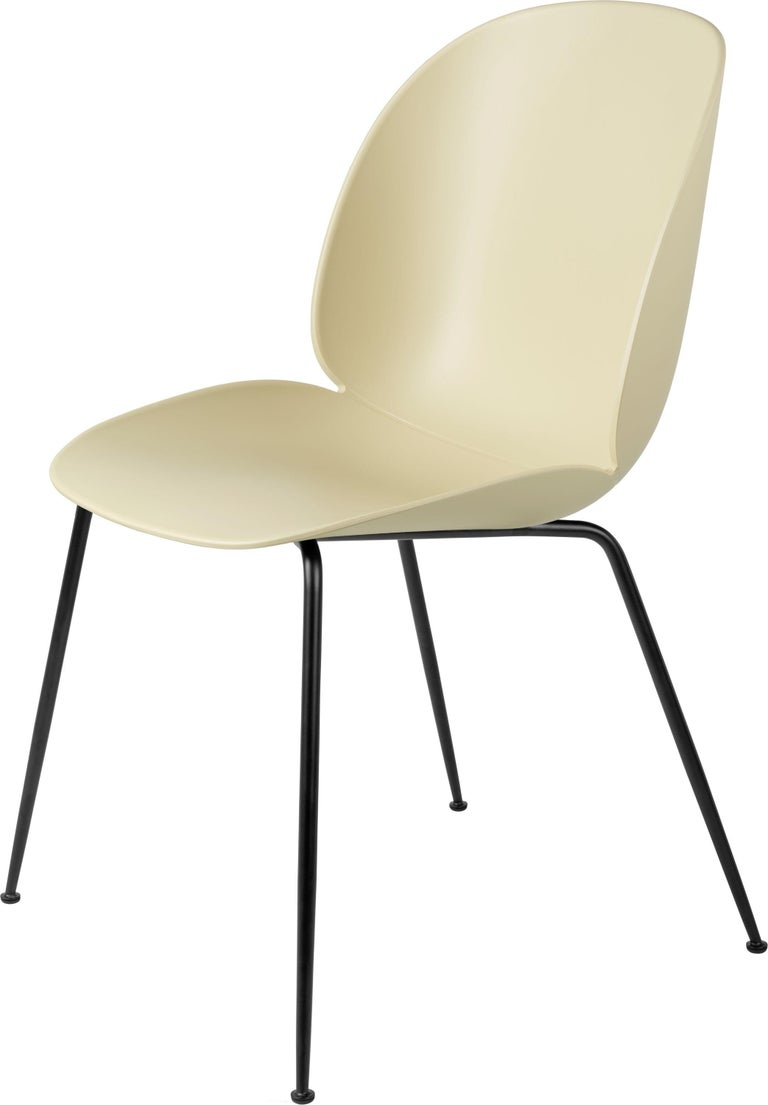 GamFratesi 'Beetle' Dining Chair with Black Conic Base For Sale 7