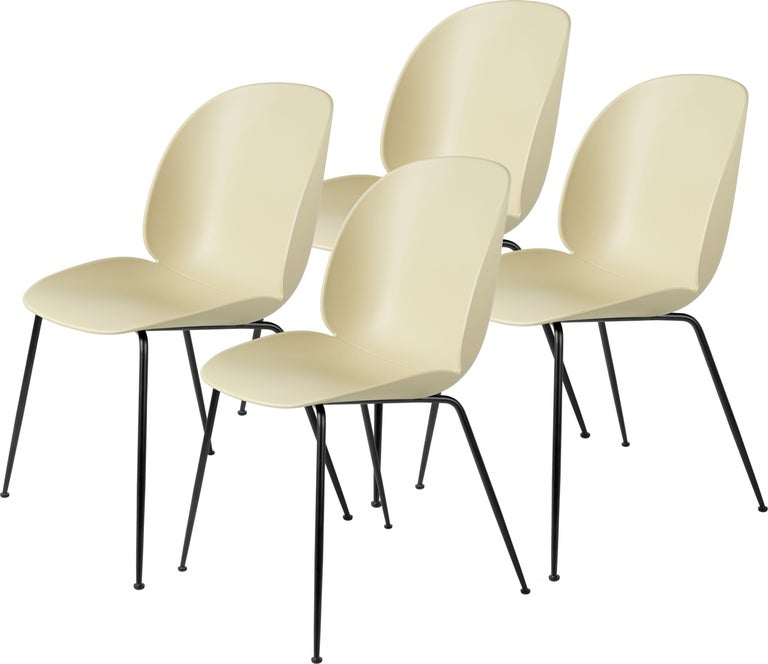 GamFratesi 'Beetle' Dining Chair with Black Conic Base For Sale 9