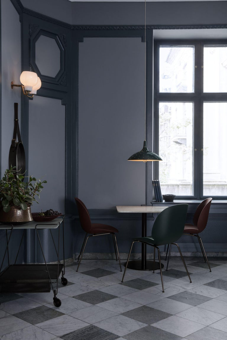 Mid-Century Modern GamFratesi 'Beetle' Dining Chair with Black Conic Base For Sale