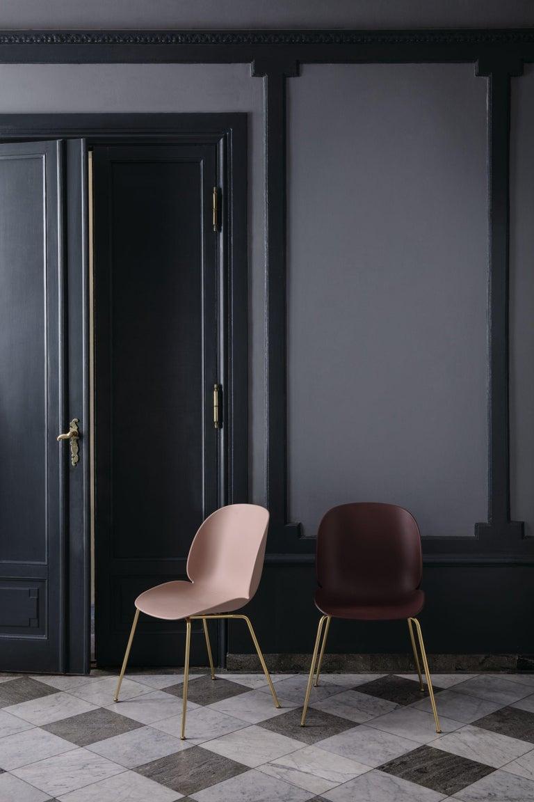 Danish GamFratesi 'Beetle' Dining Chair with Black Conic Base For Sale