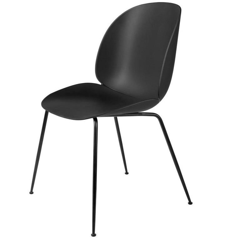 GamFratesi 'Beetle' Dining Chair with Black Conic Base For Sale