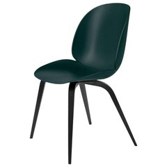 GamFratesi 'Beetle' Dining Chair with Black Stained Beech Conic Base