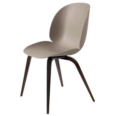 GamFratesi 'Beetle' Dining Chair with Smoked Oak Conic Base