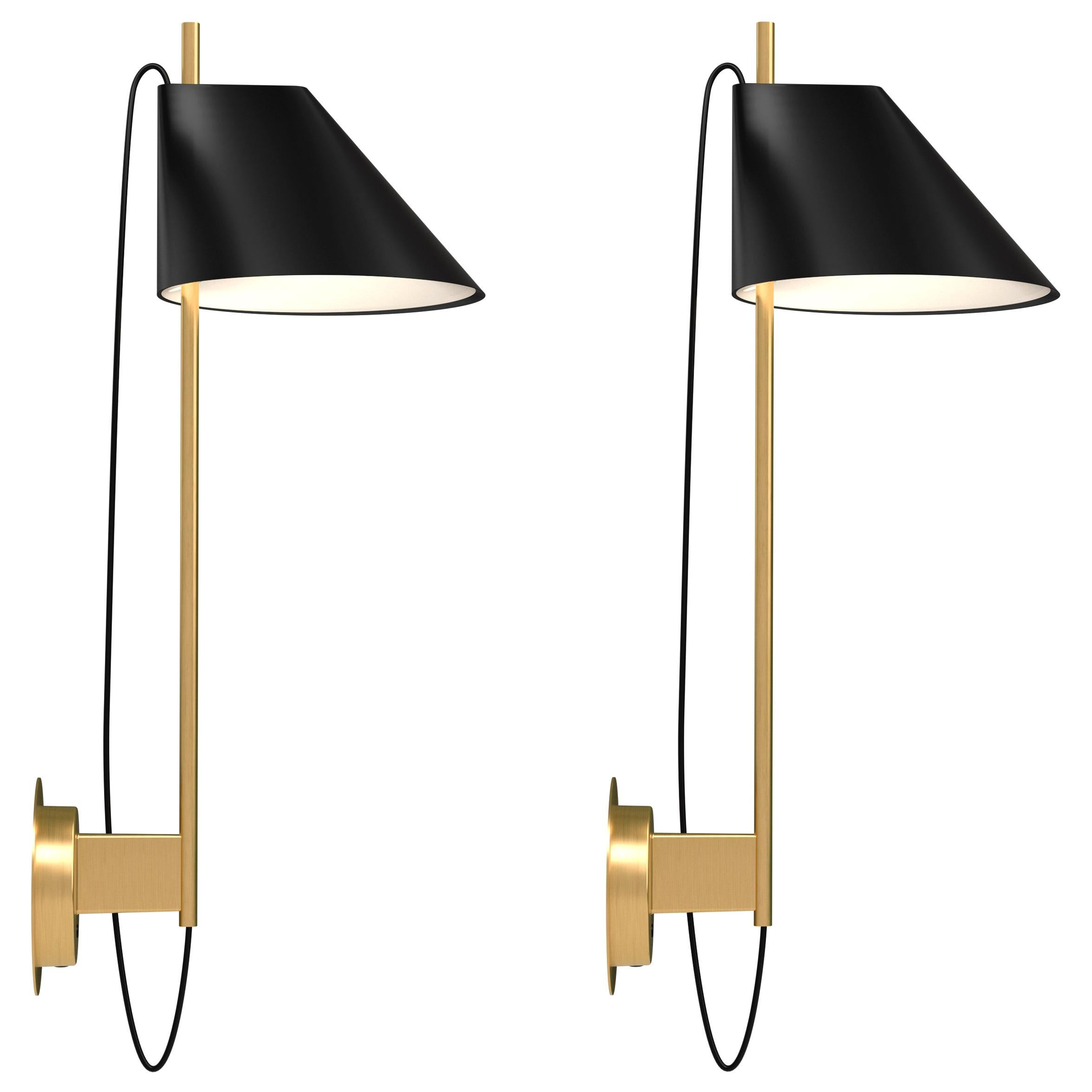 GamFratesi Black and Brass 'Yuh' Wall Light for Louis Poulsen