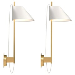 Gamfratesi White and Brass 'Yuh' Wall Light for Louis Poulsen