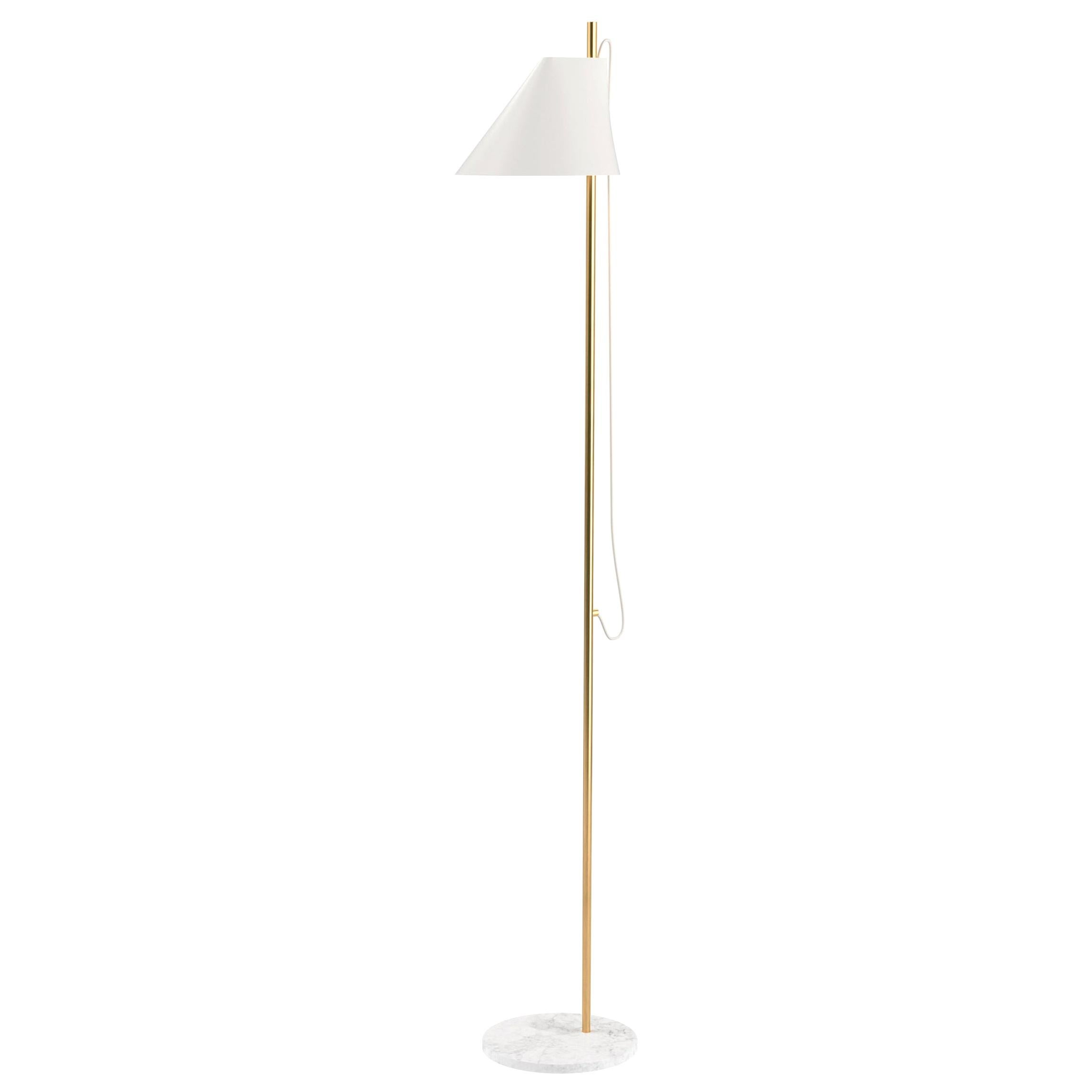 GamFratesi White 'YUH' Brass and Marble Floor Lamp for Louis Poulsen