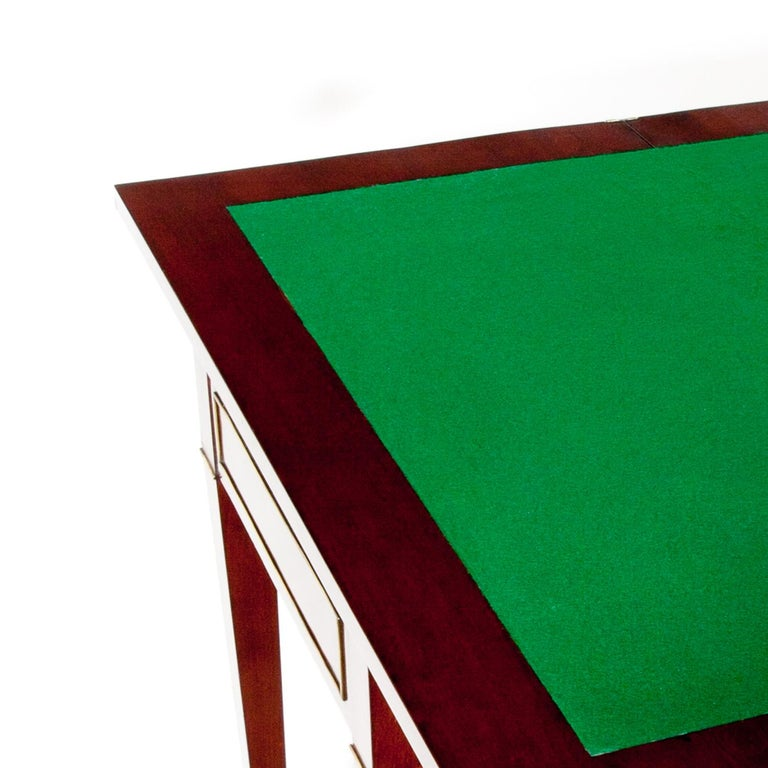 Mahogany Gaming Table, First Half of the 19th Century For Sale