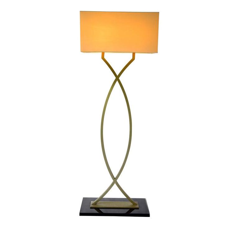 Italian Gamma Brass Floor Lamp For Sale