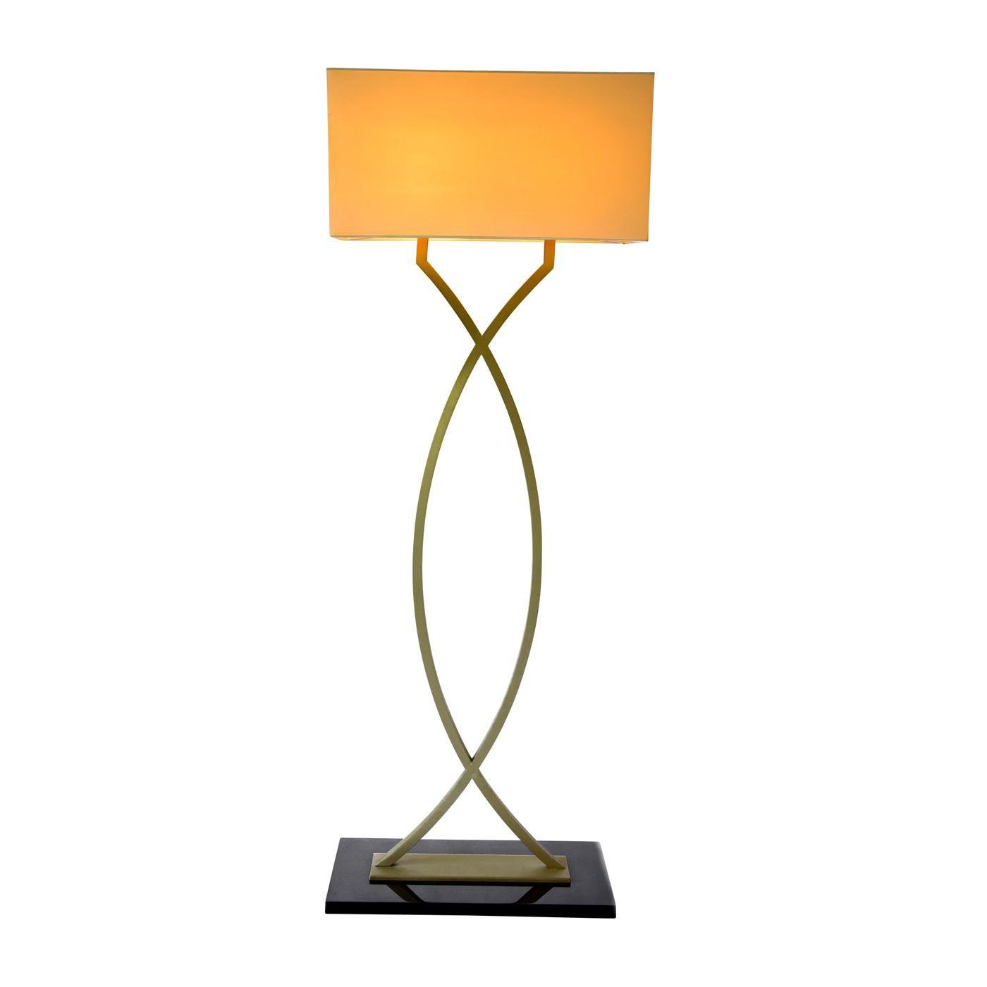 Gamma Brass Floor Lamp