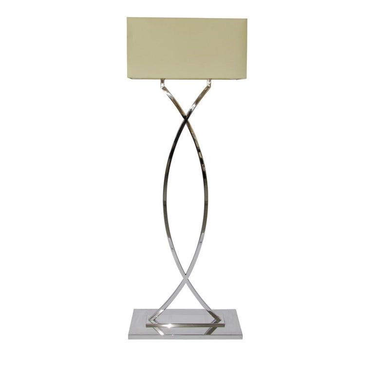 Modern Gamma Nickel Floor Lamp