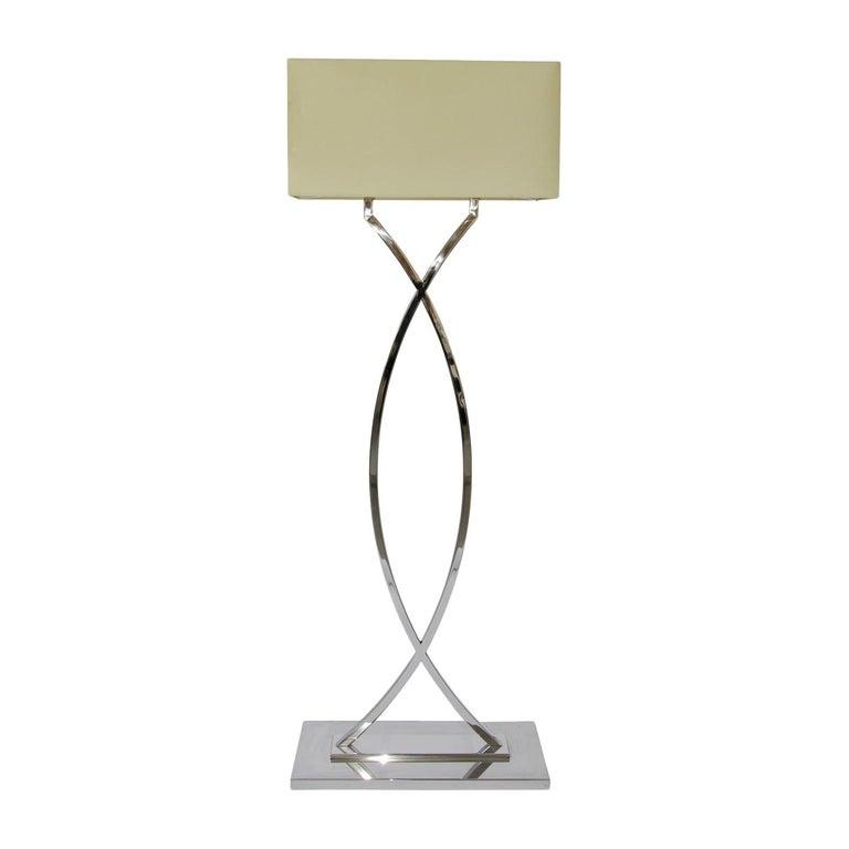 Gamma Nickel Floor Lamp
