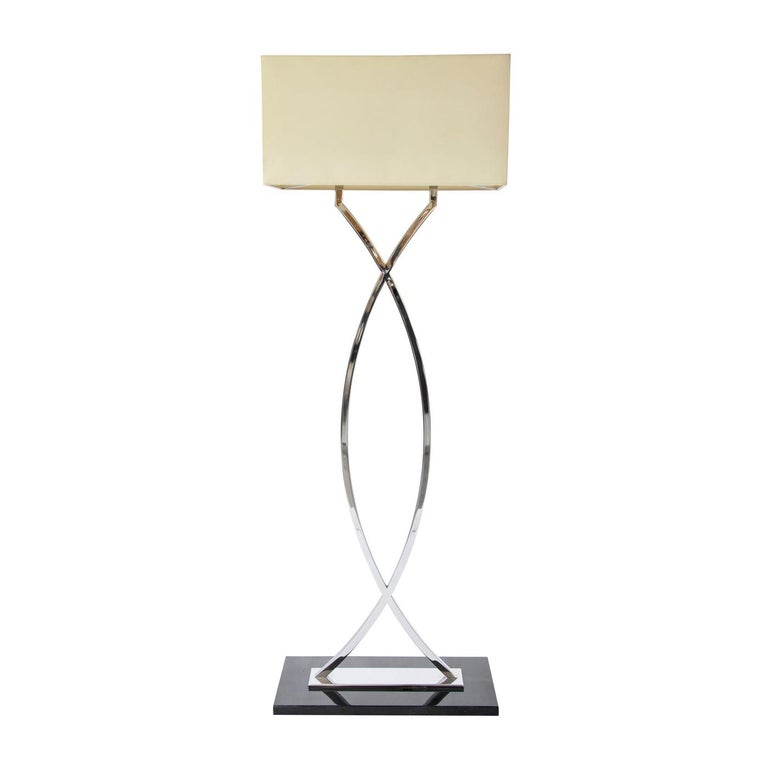 Gamma Stainless Steel Floor Lamp For Sale