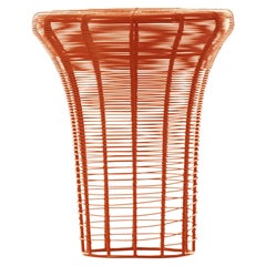 GAN Aram High Stool in Red and Orange by Nendo