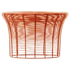 GAN Aram High Table in Red and Orange by Nendo