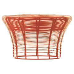 GAN Aram Low Stool in Red and Orange by Nendo
