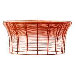 GAN Aram Low Table in Red and Orange by Nendo