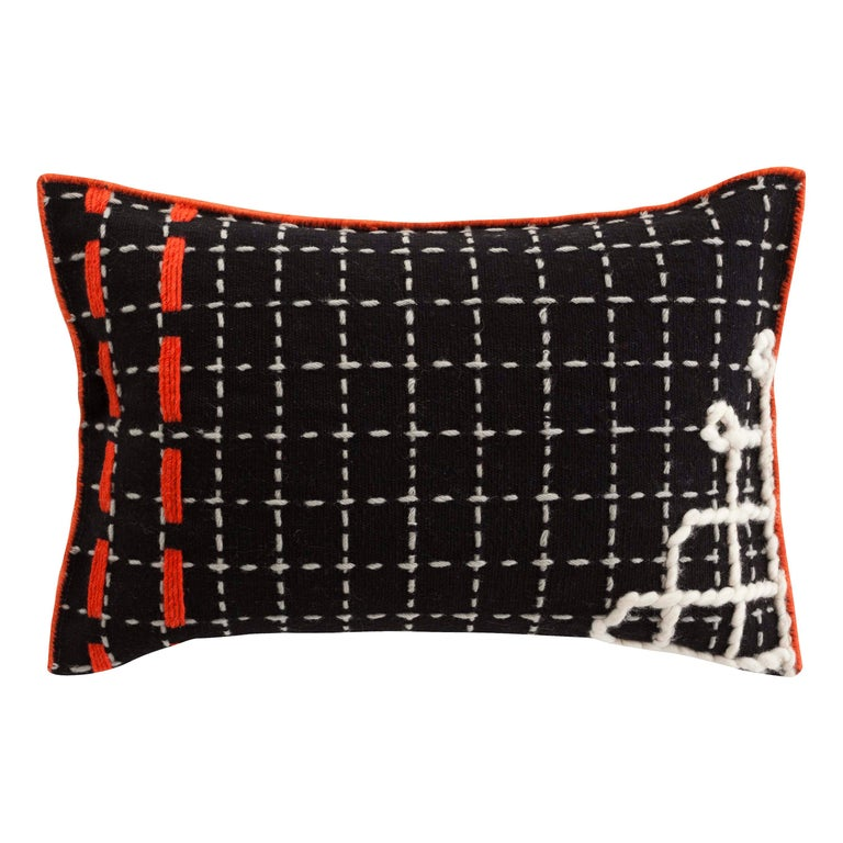 For Sale: undefined (Black)  Patricia Urquiola Bandas Pillow for GAN