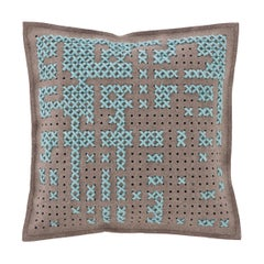 GAN Canevas Square Abstract Pillow by Charlotte Lancelot