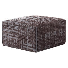 GAN Canevas Square Abstract Pouf by Charlotte Lancelot