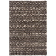 GAN Cirus Rug in Hand Knotted Gray and Brown Wool
