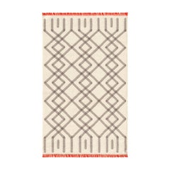 GAN Duna Small Rug in Beige and Gray Wool by Odosdesign