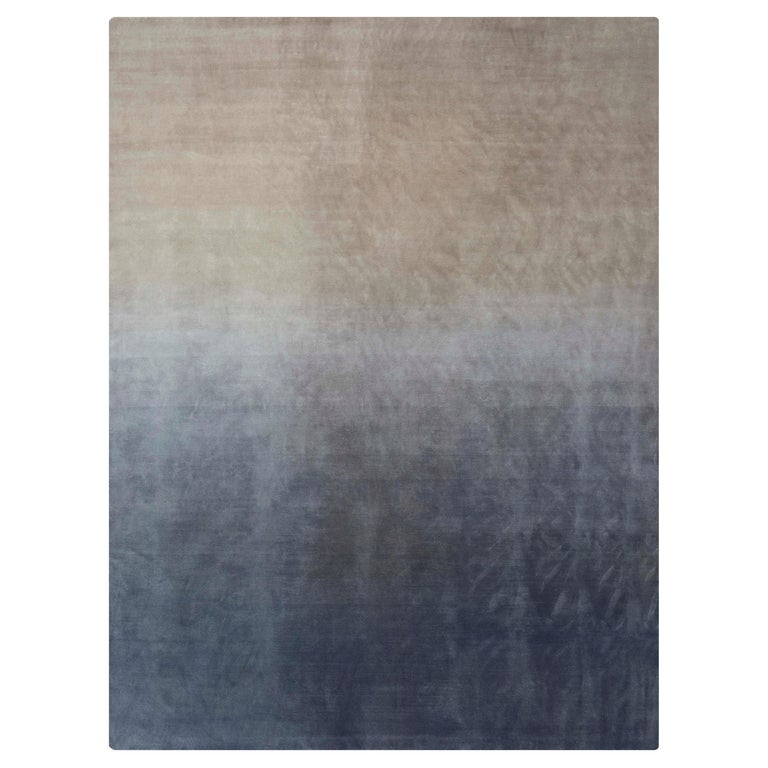 For Sale: Gray (Beige Gray) GAN Hand Knotted Degrade Medium Rug by Patricia Urquiola