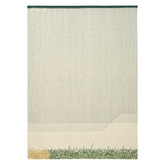 GAN Handloom Backstitch Calm Small Rug by Raw Edges