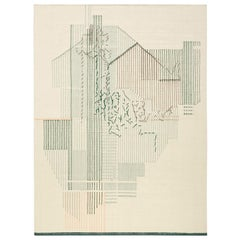 GAN Handloom Backstitch Composition Small Rug by Raw-Edges