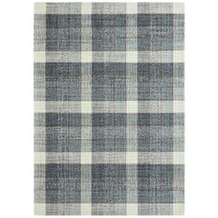 GAN Handloom Cuadros Rug in Gray Rust